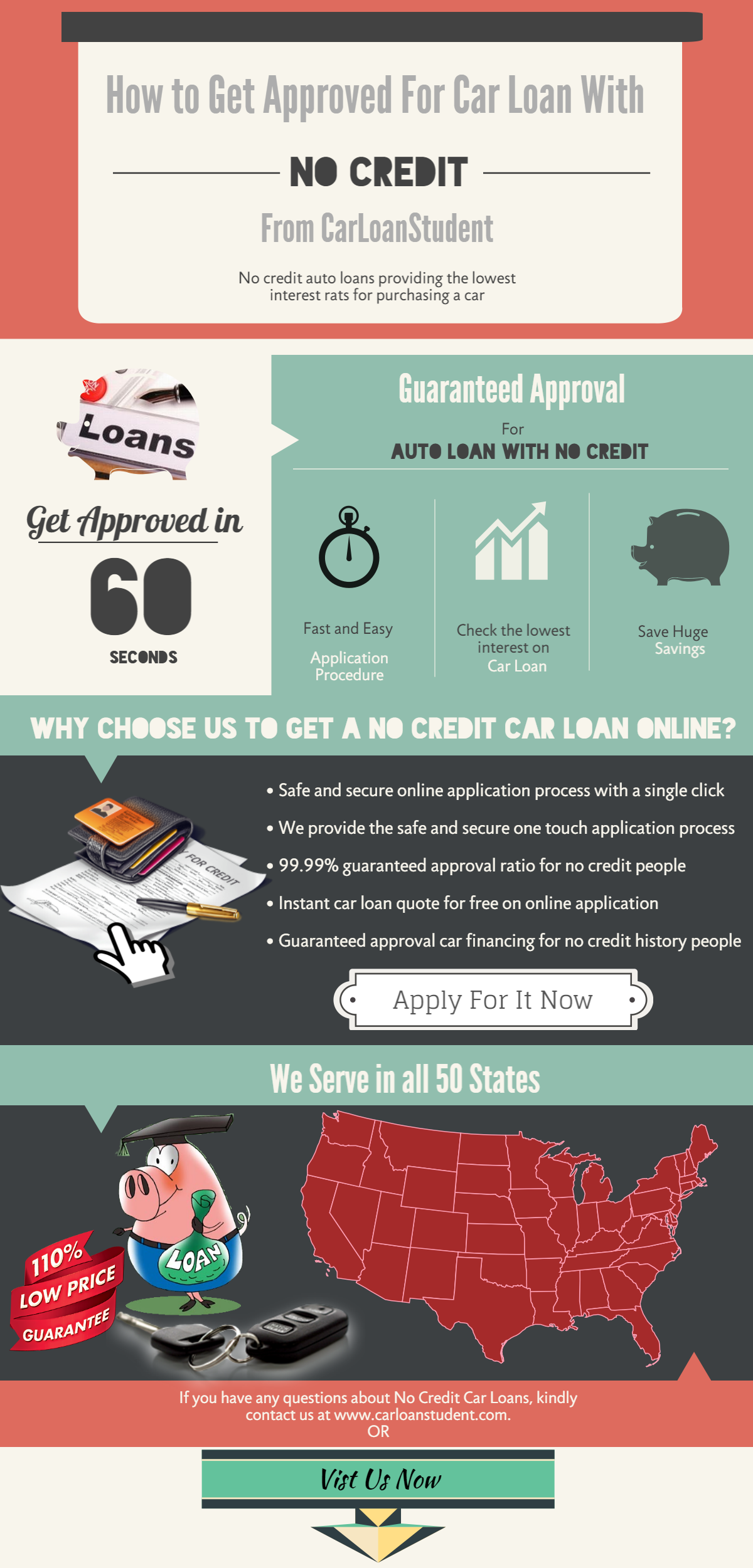 infographic how to get approved for car loan with no credit. Black Bedroom Furniture Sets. Home Design Ideas